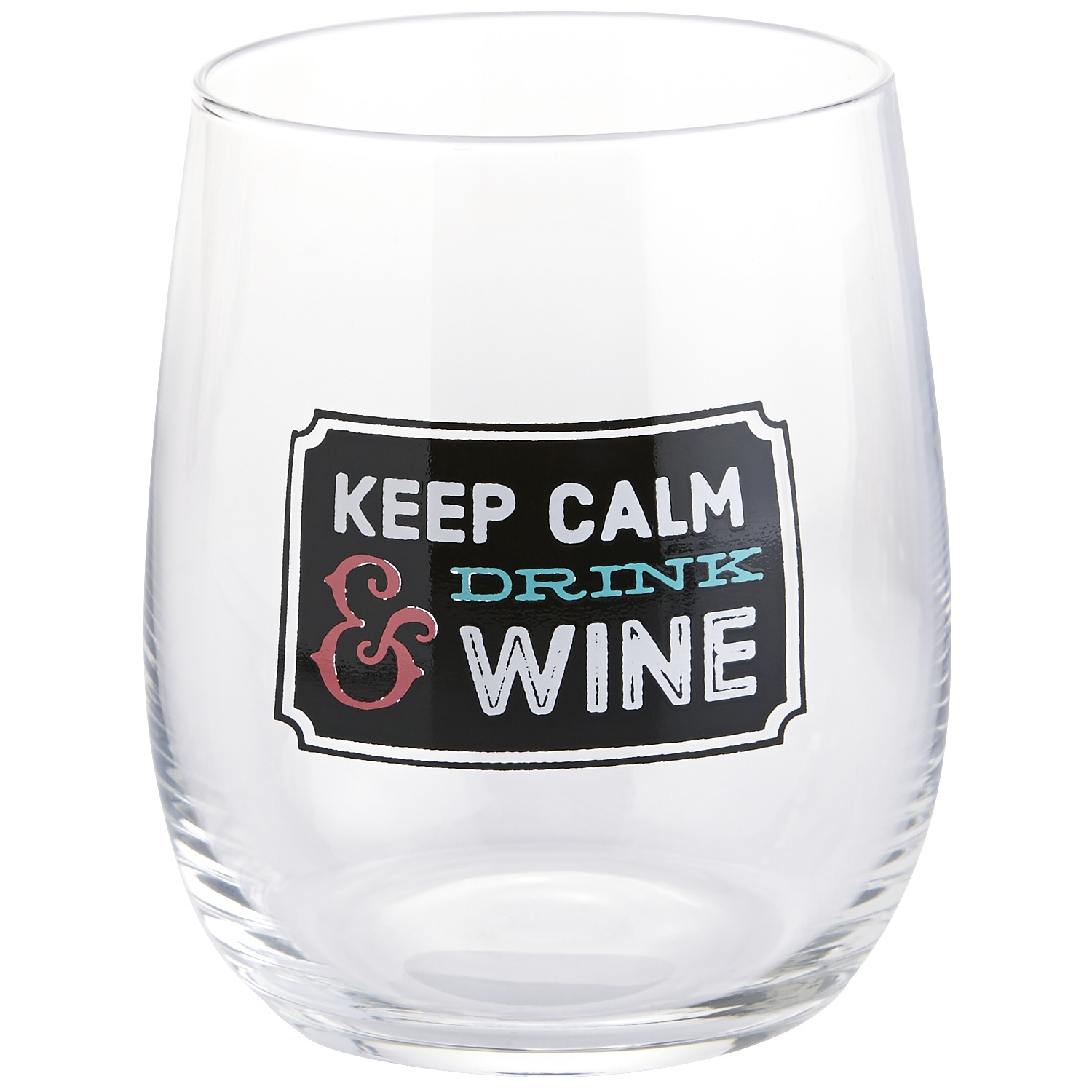 Keep Calm & Drink Wine Stemless Goblet