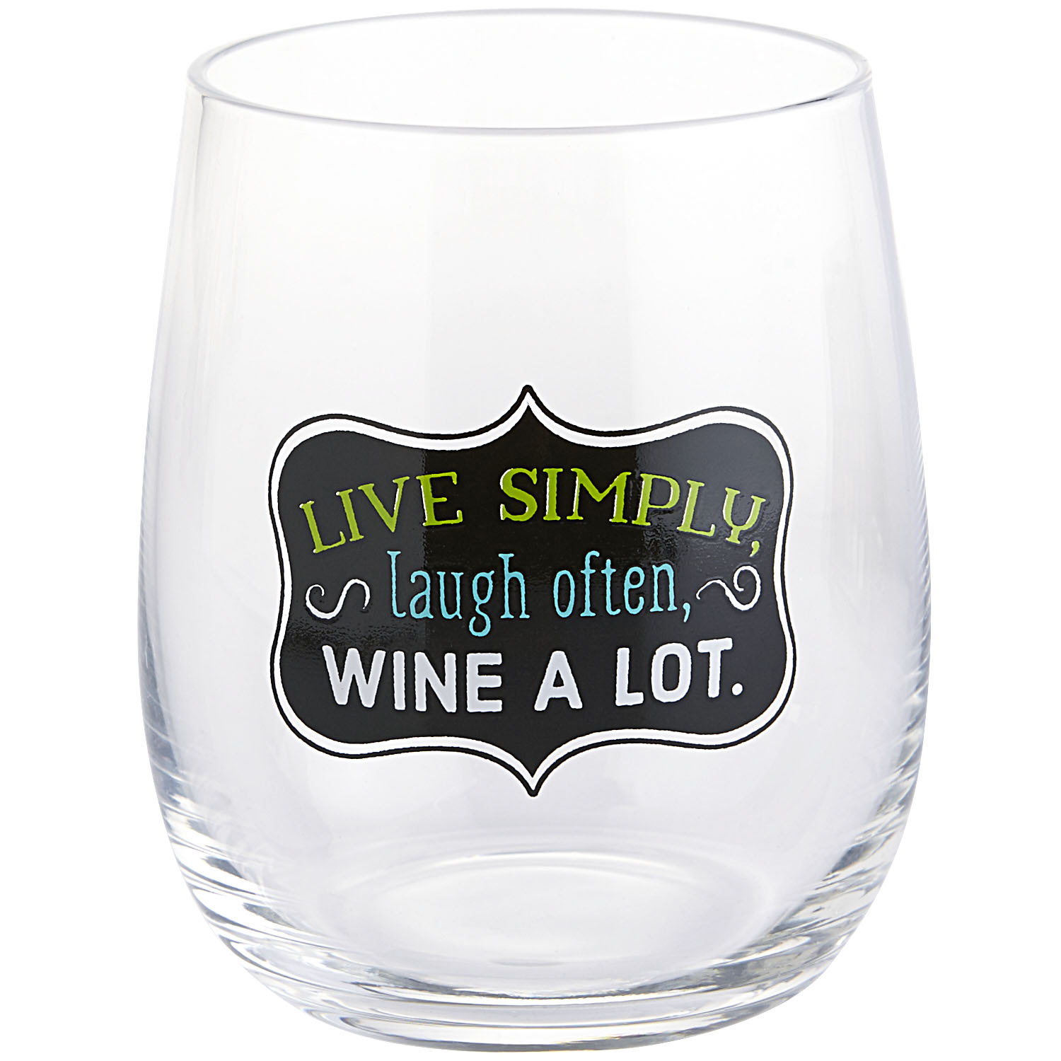 Wine a Lot Stemless Goblet