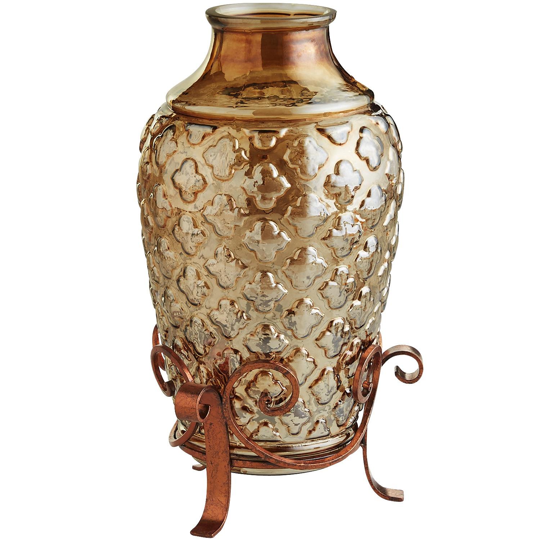 Quatrefoil Vase with Stand