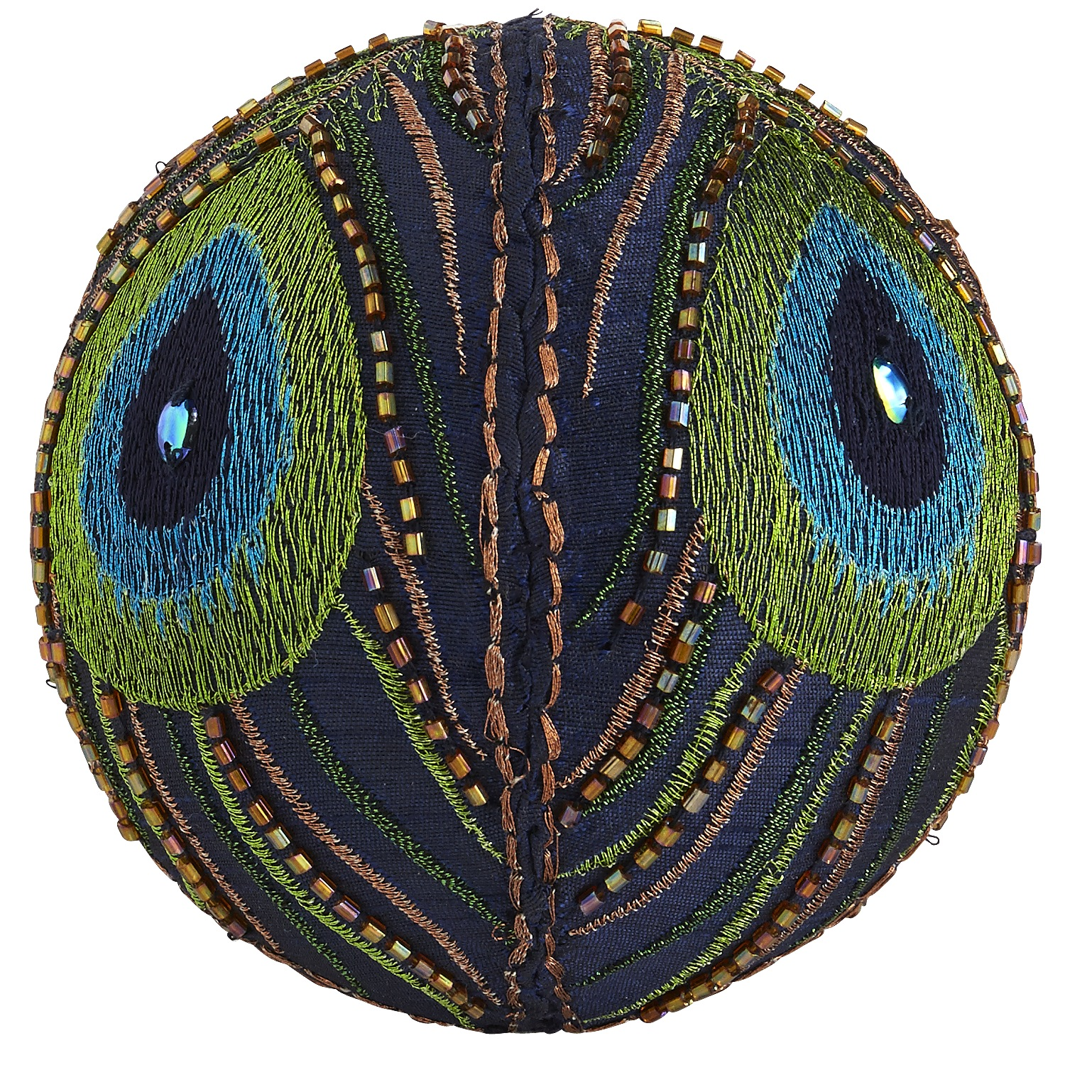 Peacock Fabric Sphere