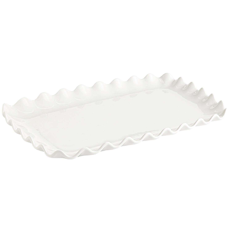 Scalloped Serving Platter