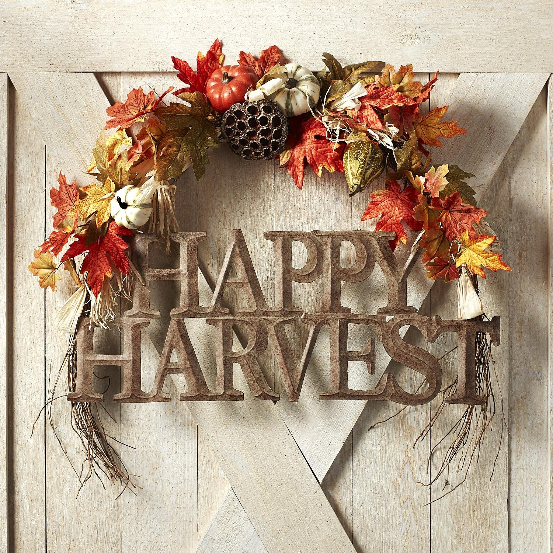 Happy Harvest Pumpkin Swag