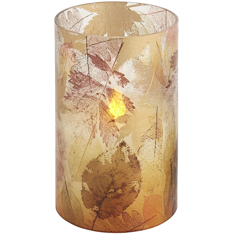 LED Spiced Cake Crackle Pillar - 4x8