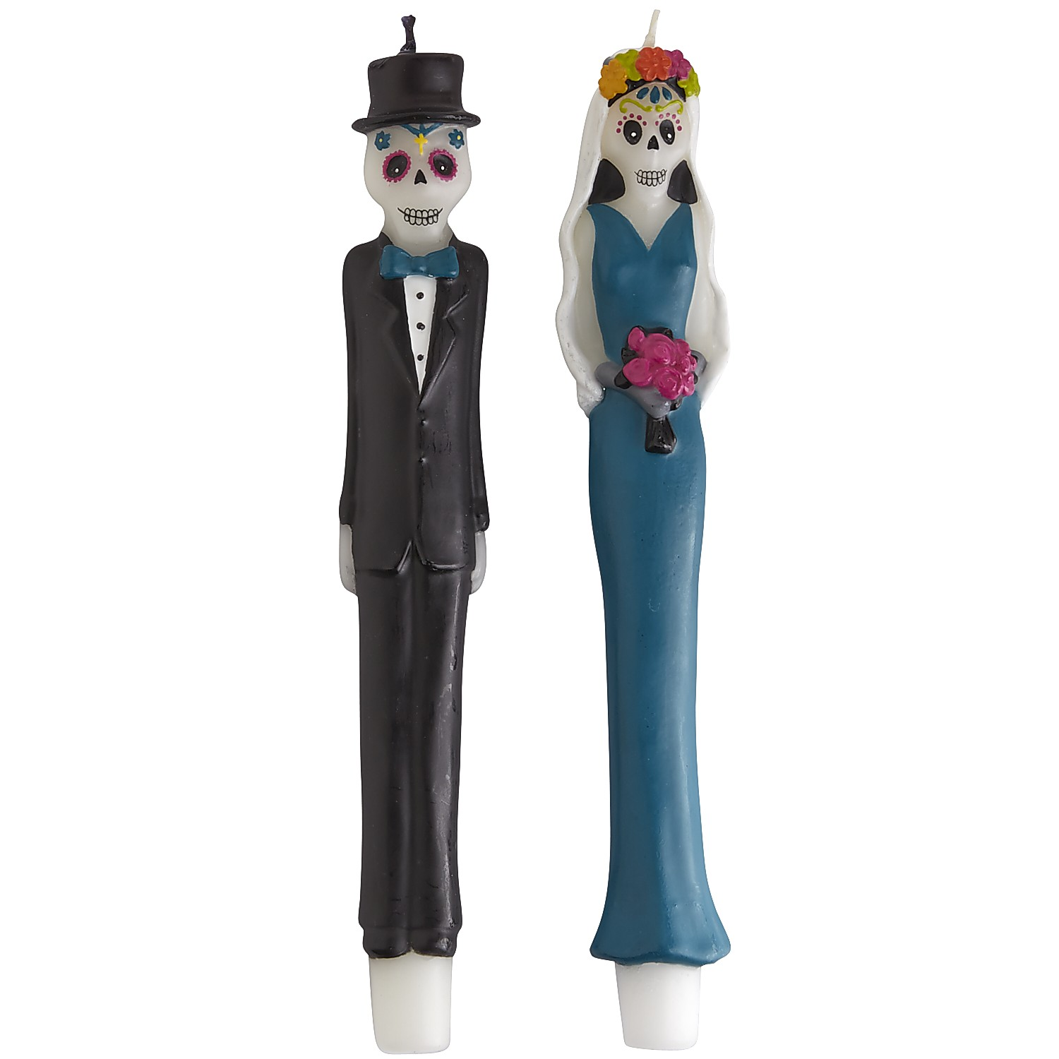 Skeleton Couple Taper Set