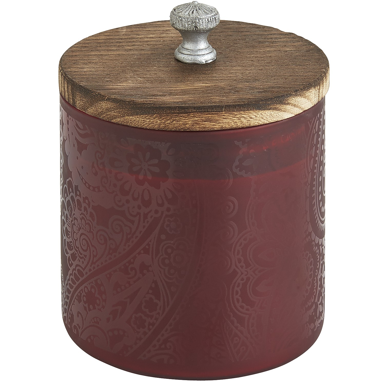 Plum Bordeaux Paisley Filled Candle
