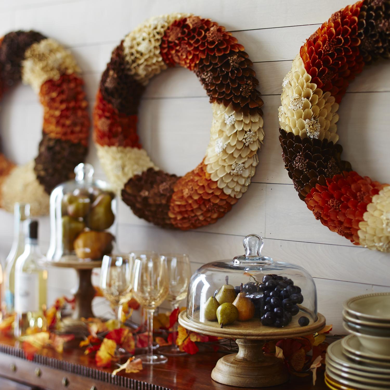 Natural Wood Curl Wreath