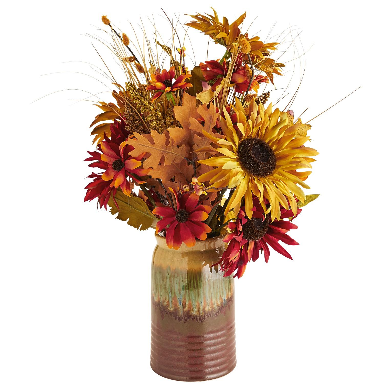 Faux Harvest Sunflower Arrangement