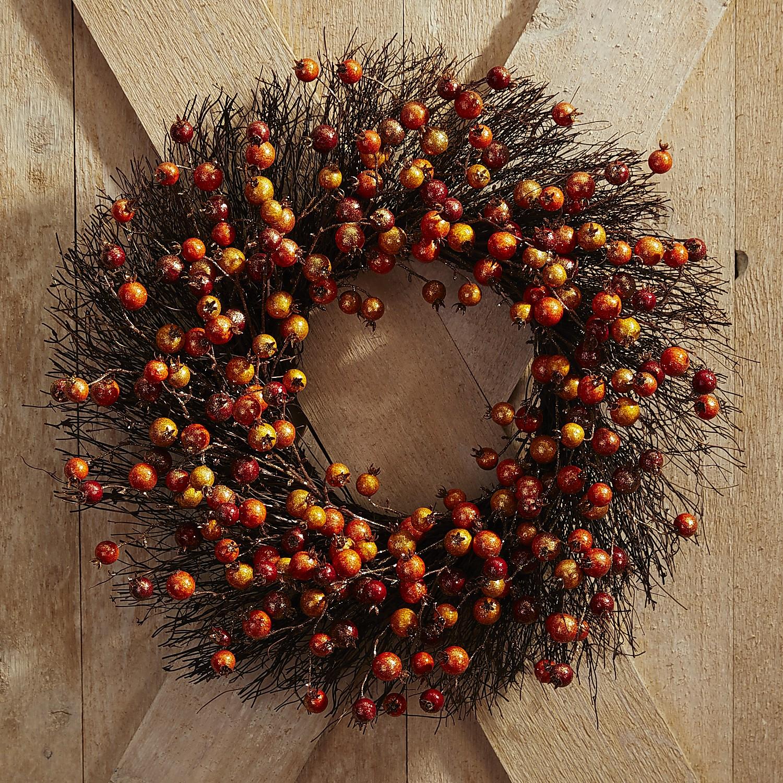 Faux Sparkle Berry Wreath