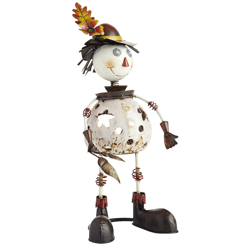 Bobblehead Boy Scarecrow Tealight Holder
