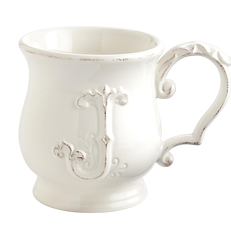 Elizabeth Monogram Mug - J