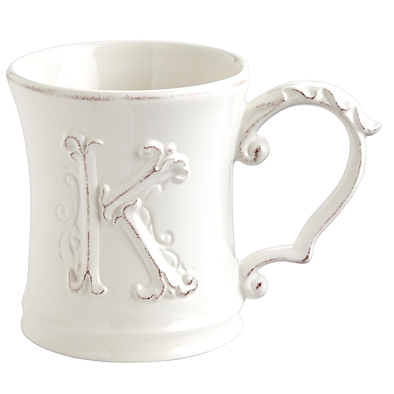 Elizabeth Monogram Mug - K