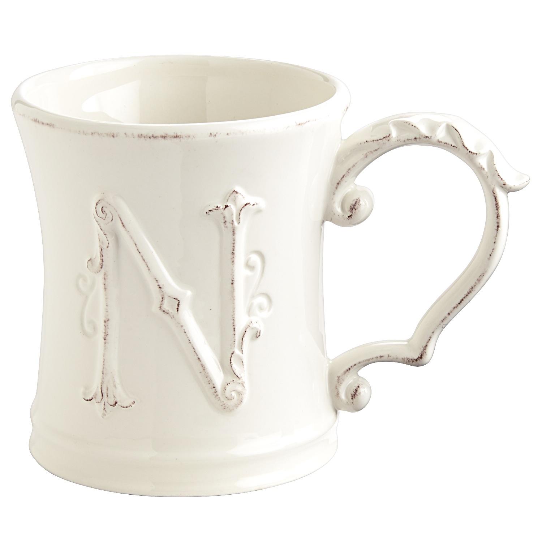 Elizabeth Monogram Mug - N