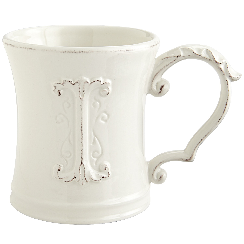 Elizabeth Monogram Mug - I