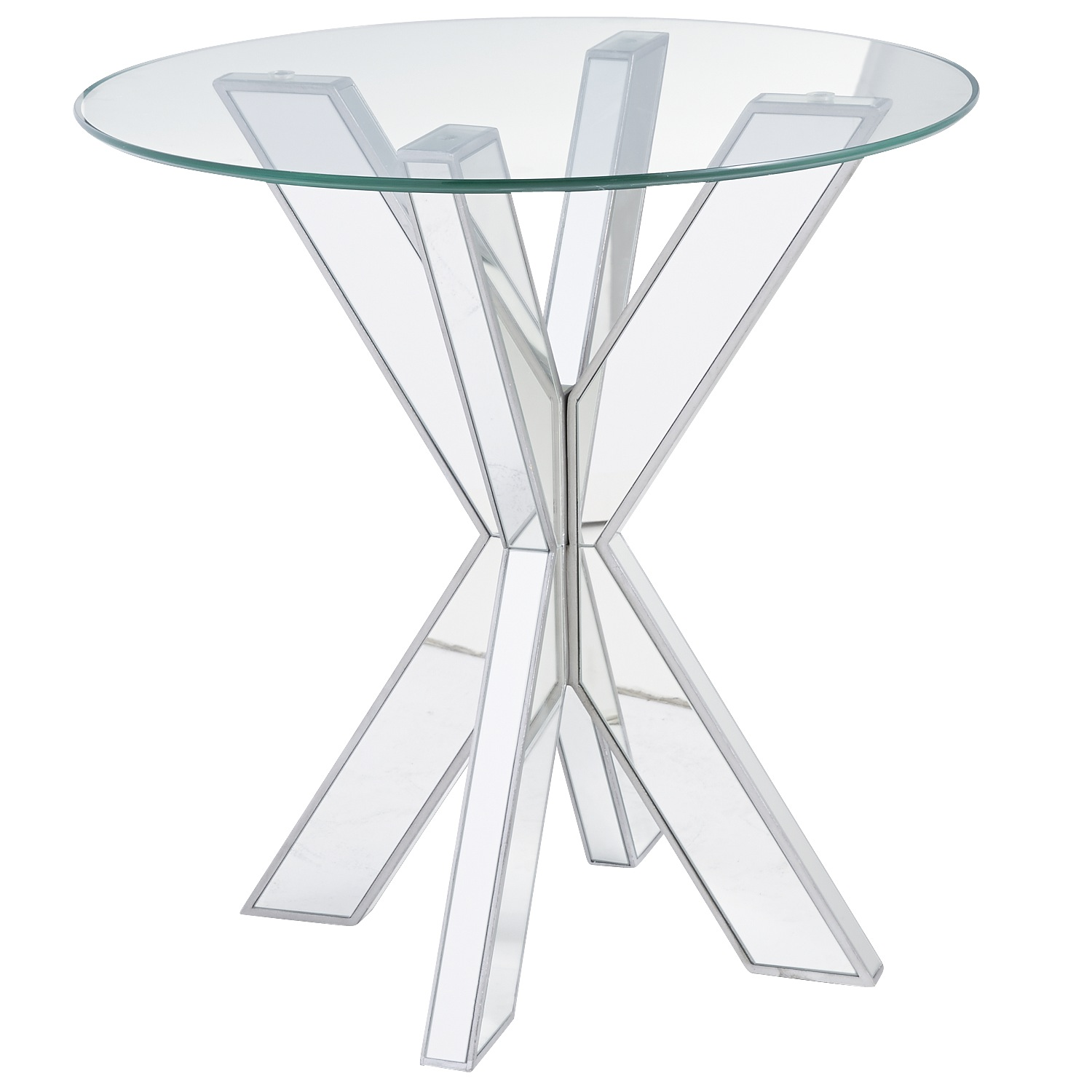 Simon X Mirrored End Table Base