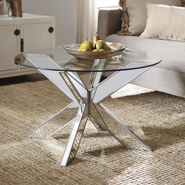 Simon X Mirrored Coffee Table Base