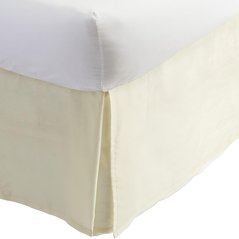 Ivory Faux Silk Pleat Full Bedskirt