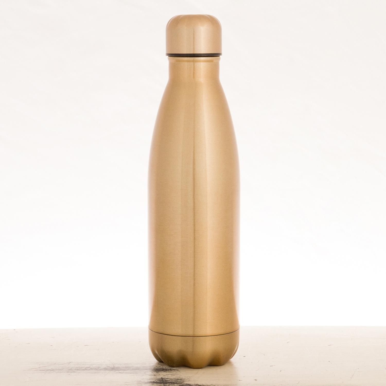 Sugar Skull Gold Stainless Steel Water Bottle
