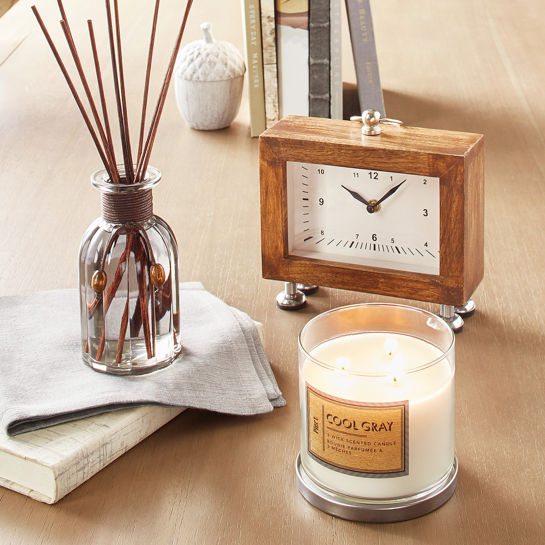 Wood & Silver Clock