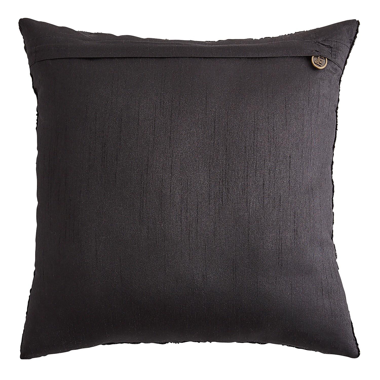 Beaded Black Cat Pillow