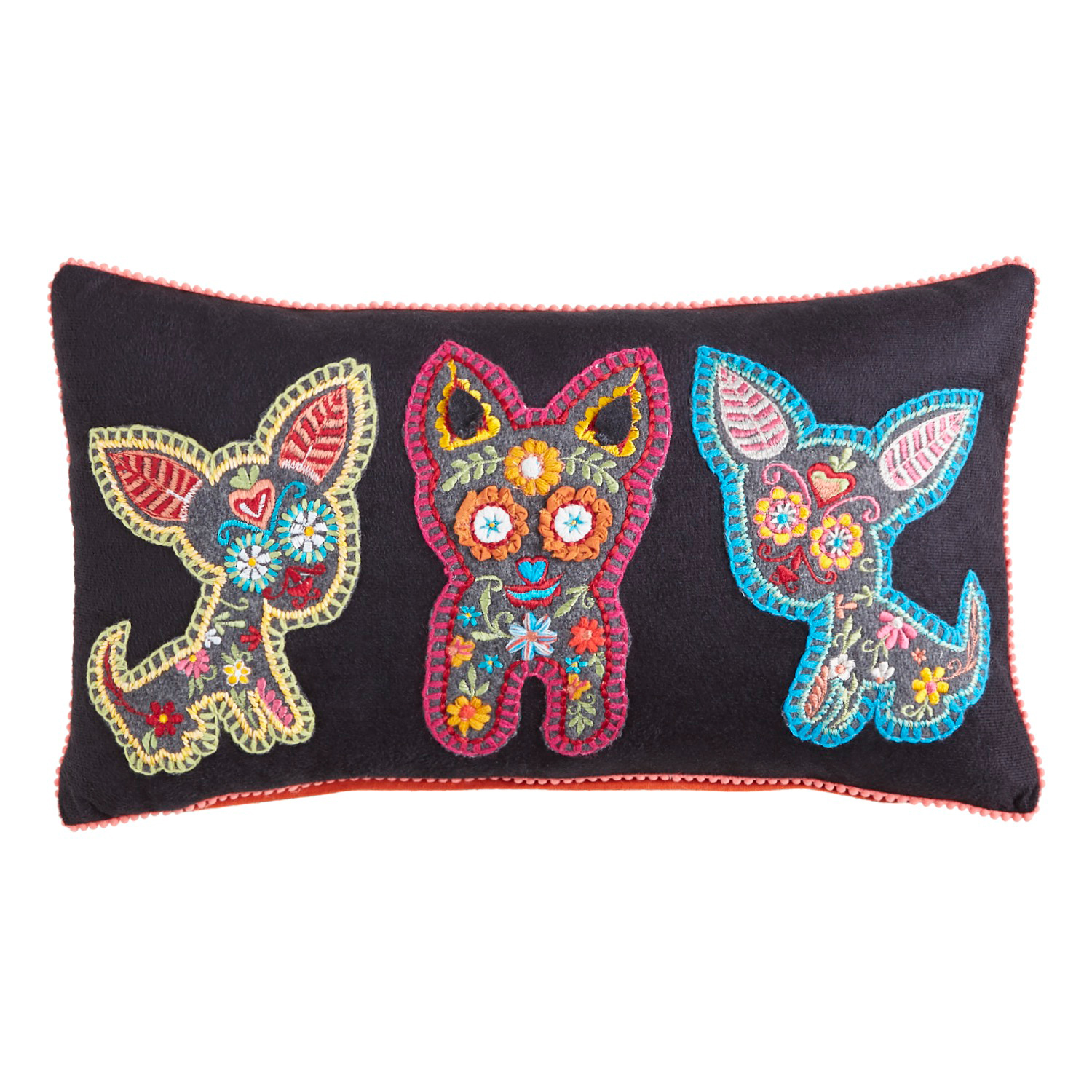 Day of the Dead Chihuahuas Lumbar Pillow