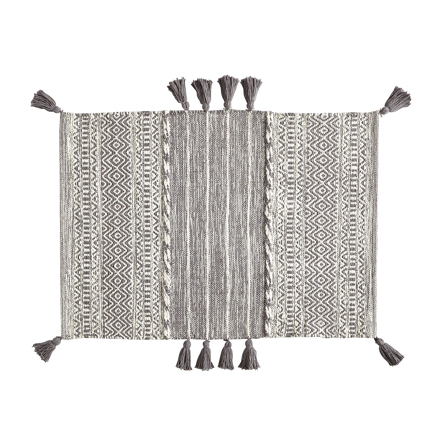 Blended Charcoal 2x3 Rug with Tassels