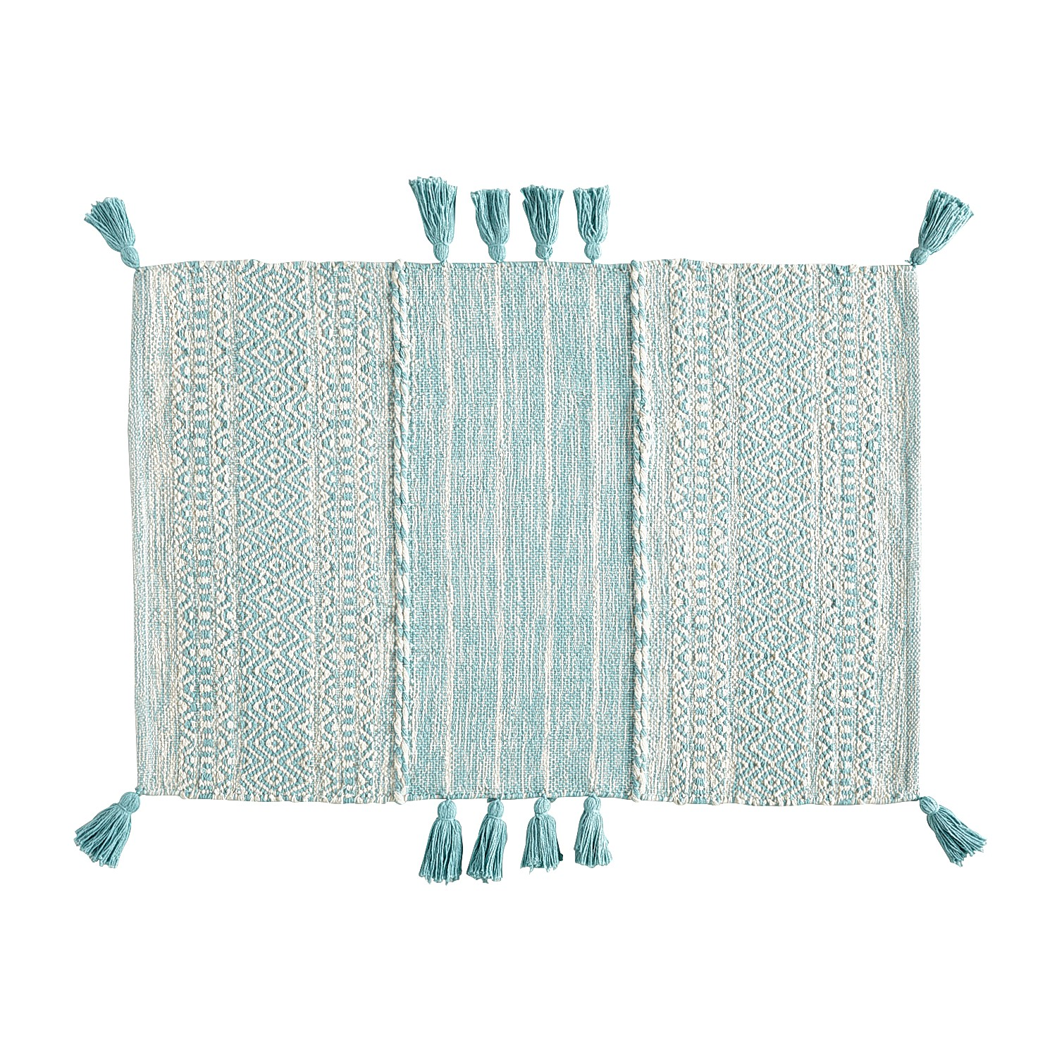 variation thumbnail of Blended Aqua 2x3 Rug with Tassels