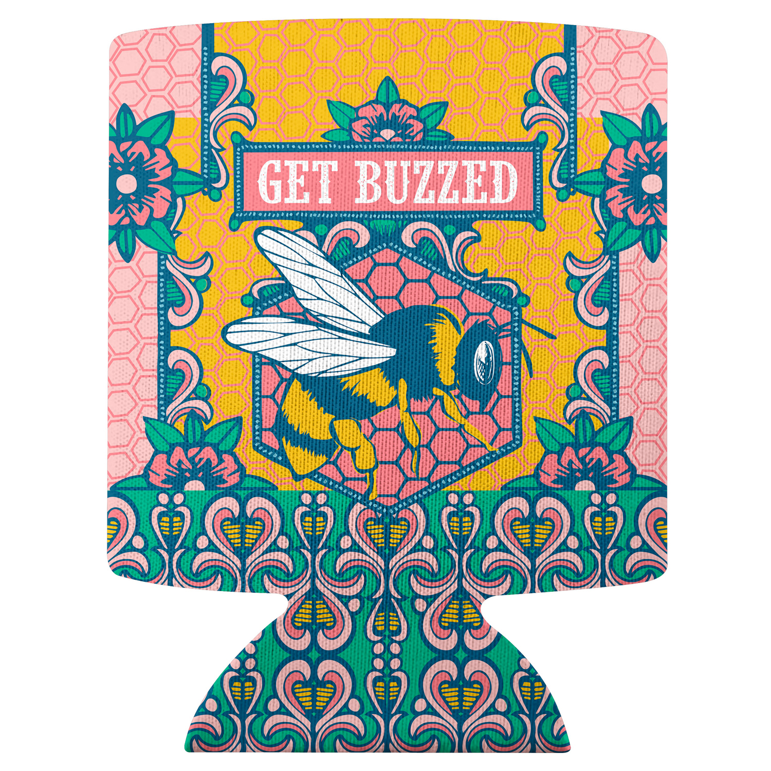 Get Buzzed Bee Can Cooler