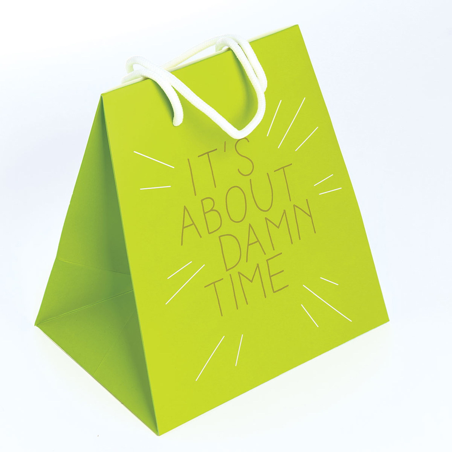 Large About Time Green Gift Bag