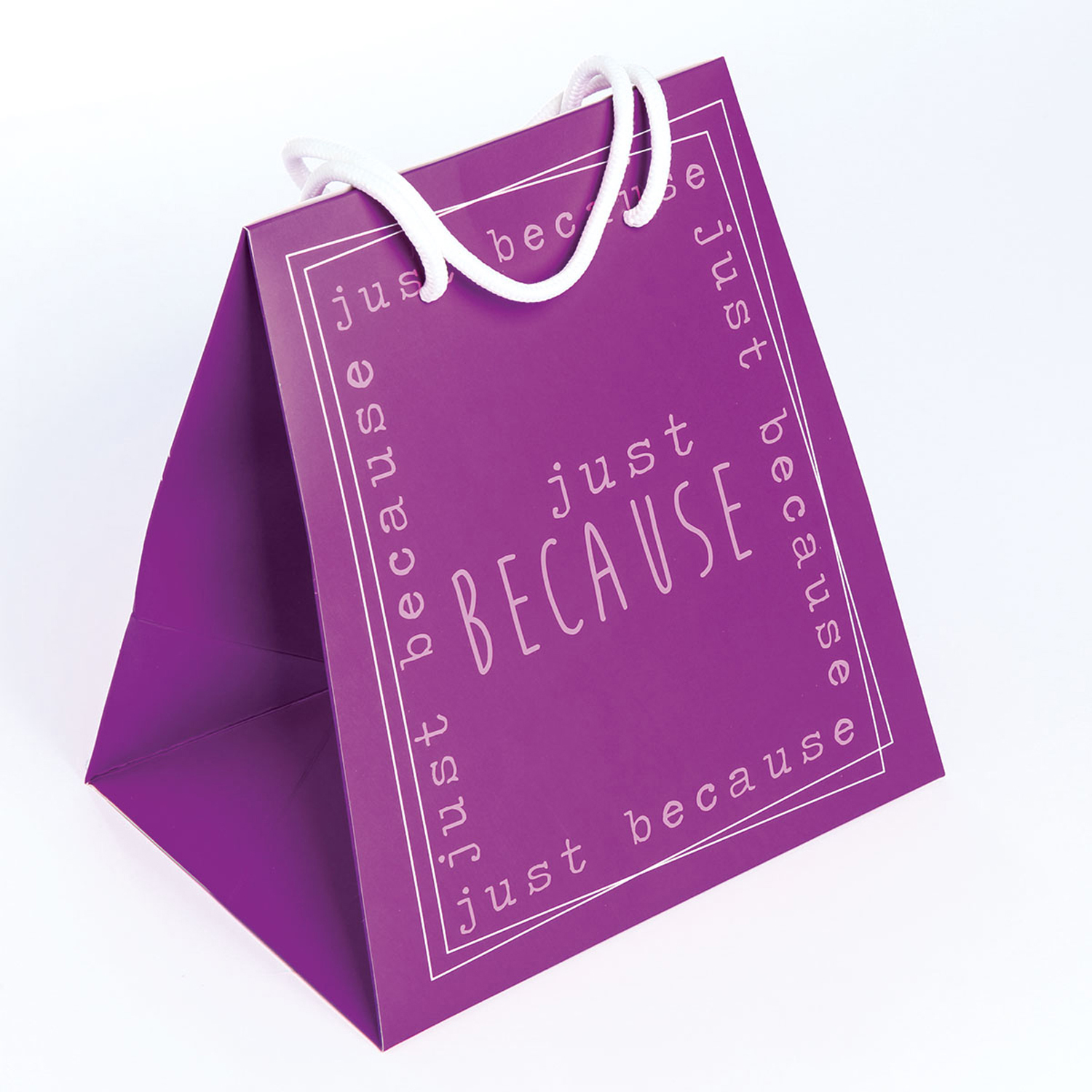 Purple Just Because Large Gift Bag