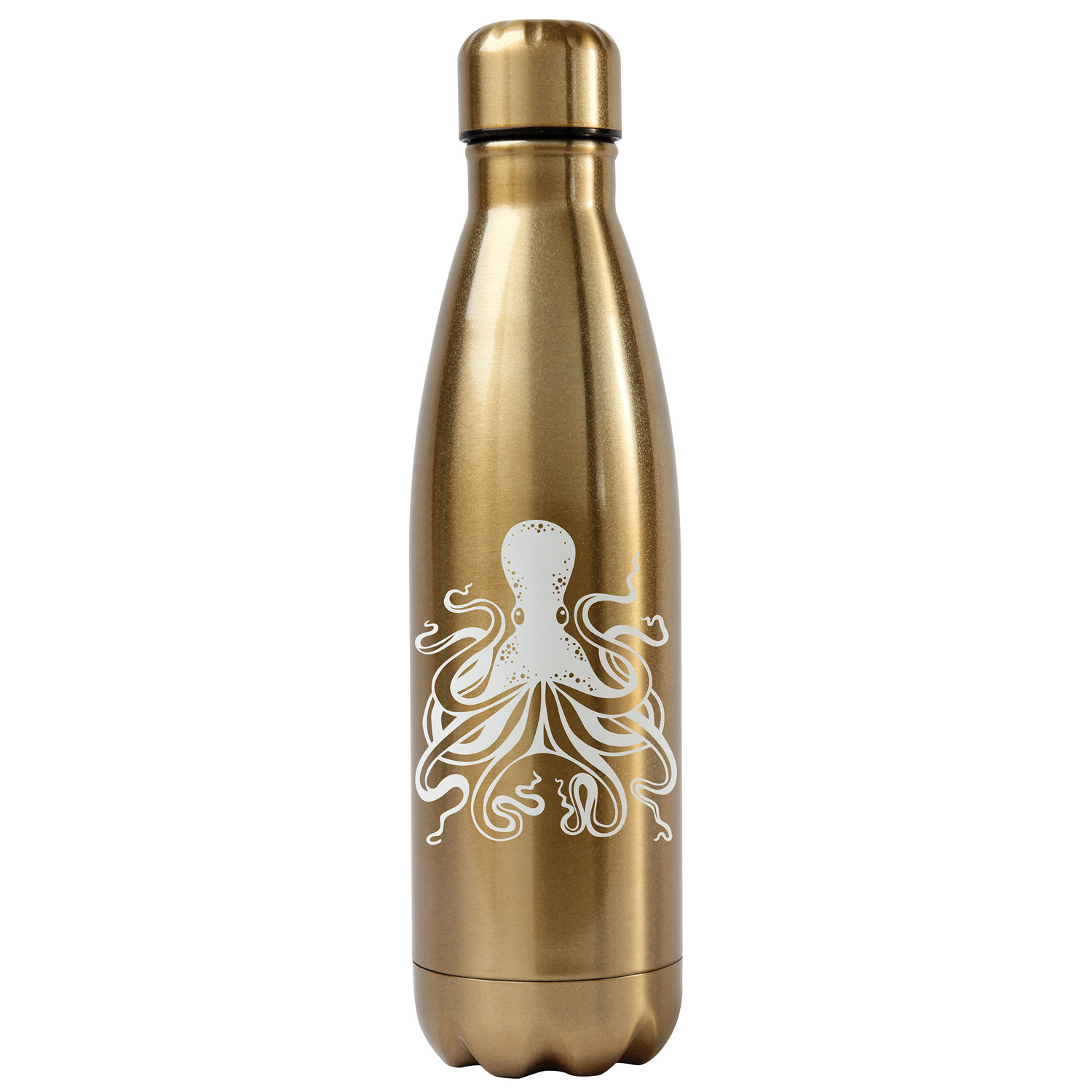 Gold Octopus Stainless Steel Water Bottle