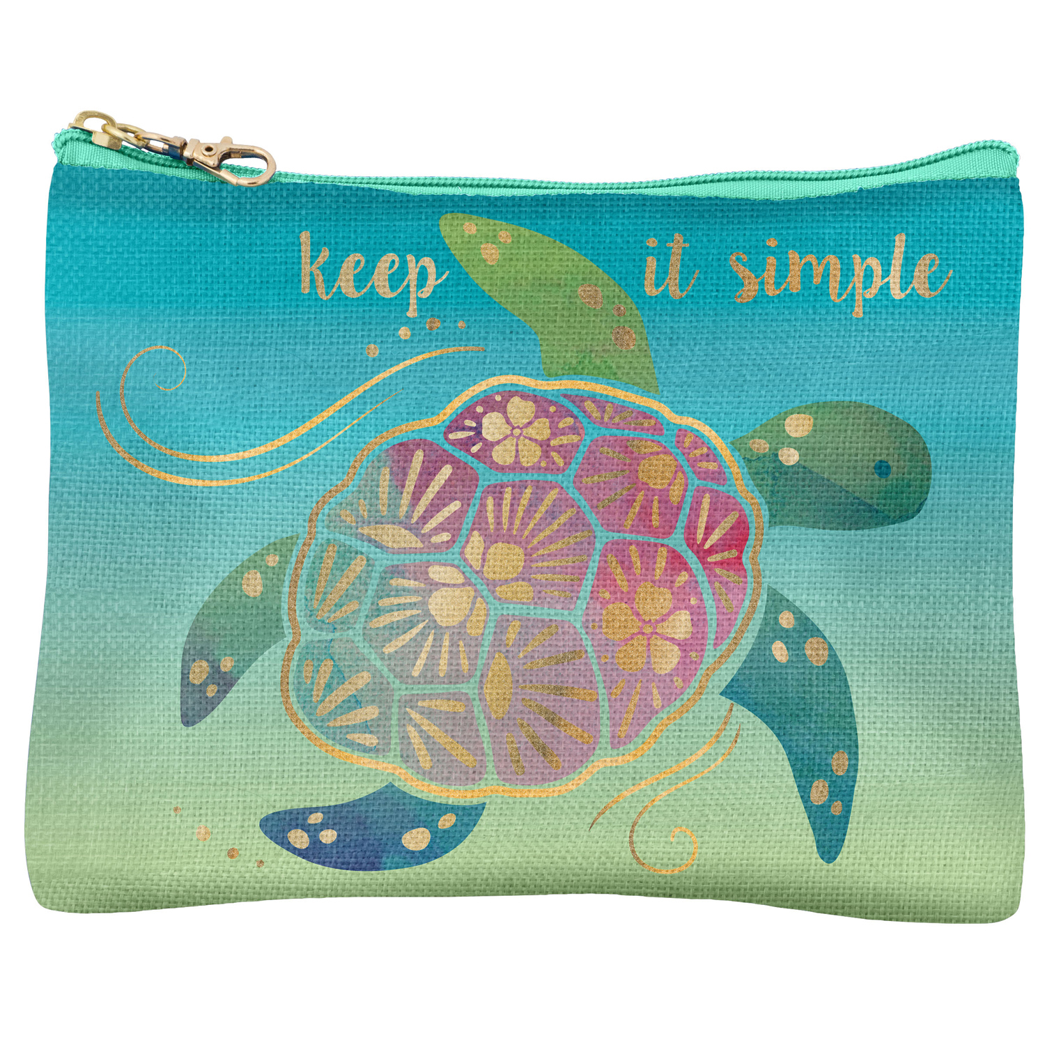 Nautical Turtle Carry All Pouch