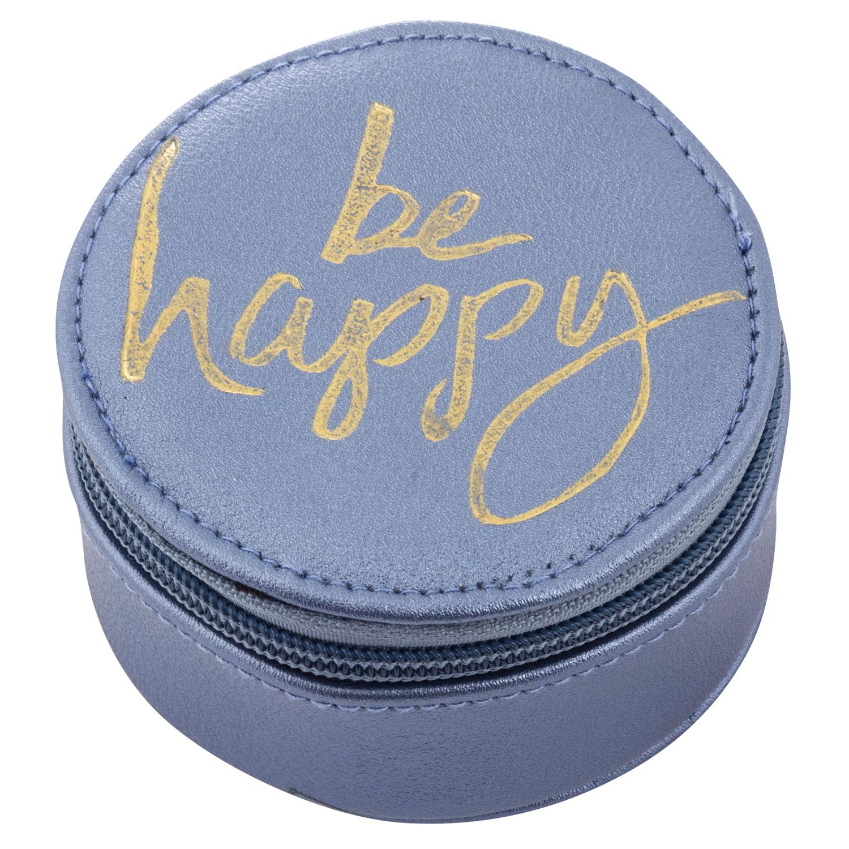 Be Happy Round Travel Case