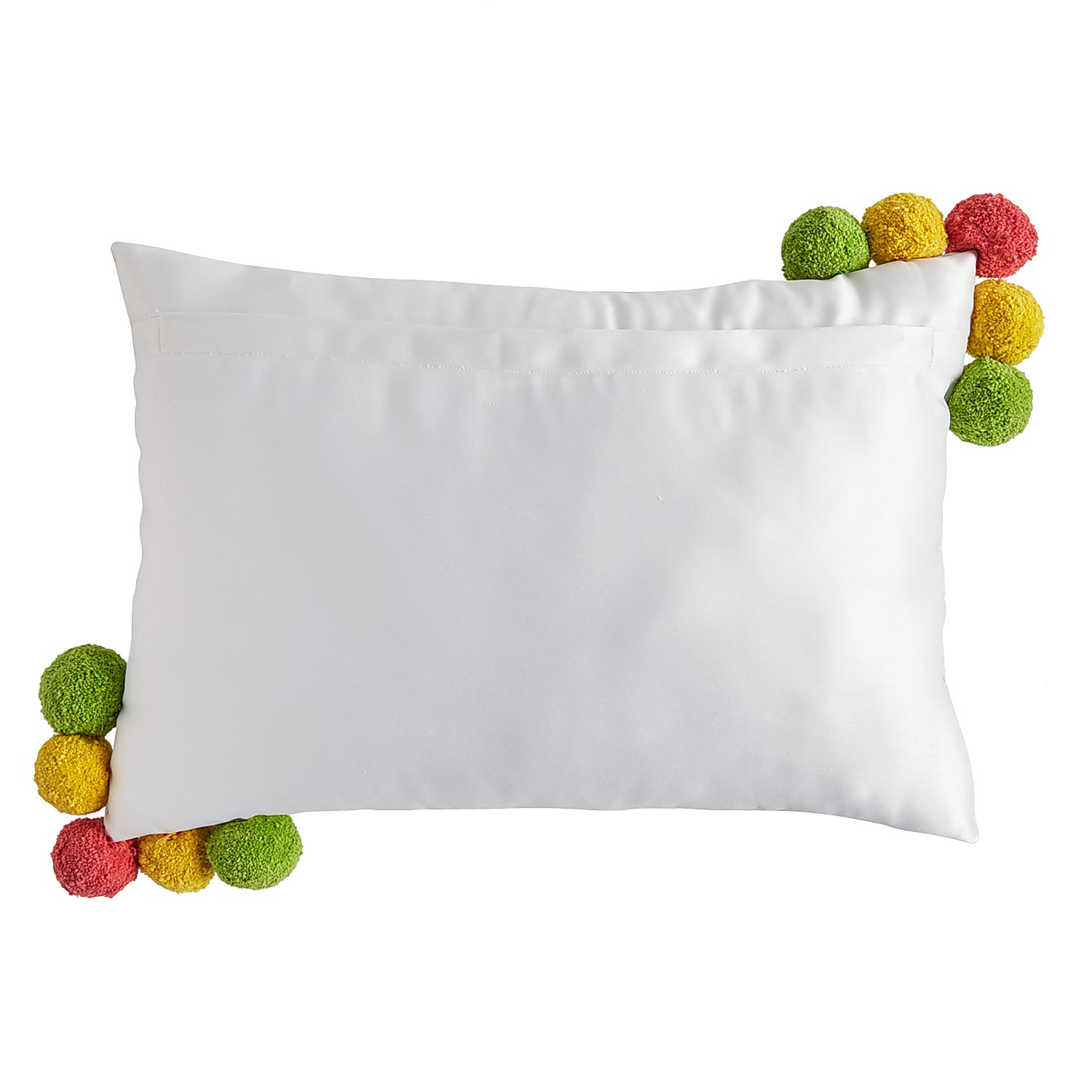 Girl Power Rainbow Pillow with Pompoms