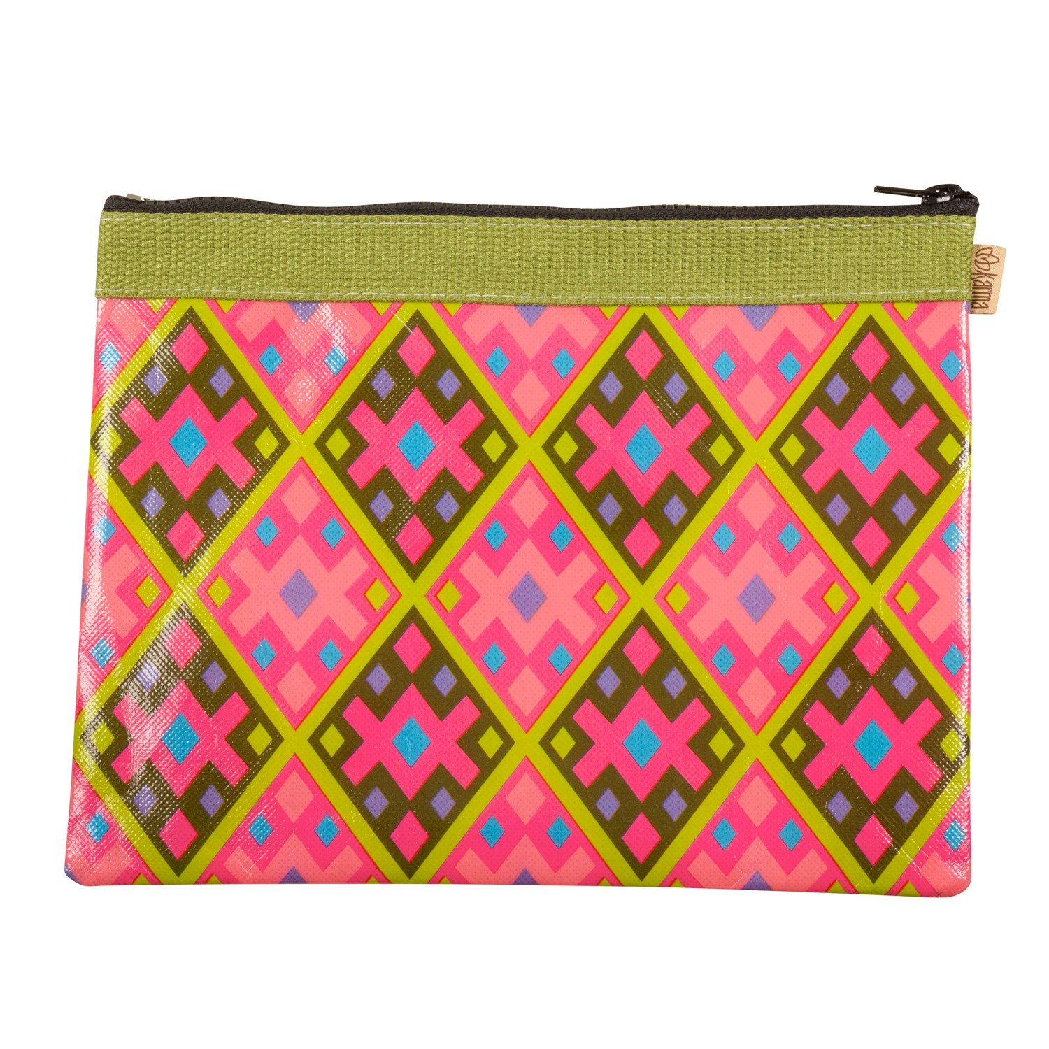 Green Diamond Carry All Pouch