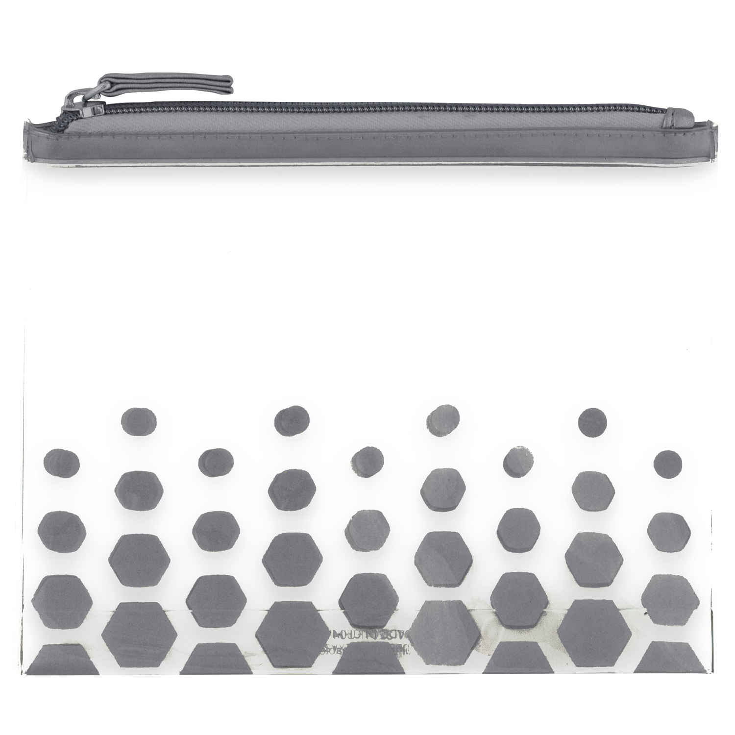 Clear Charcoal Dot Cosmetic Bag