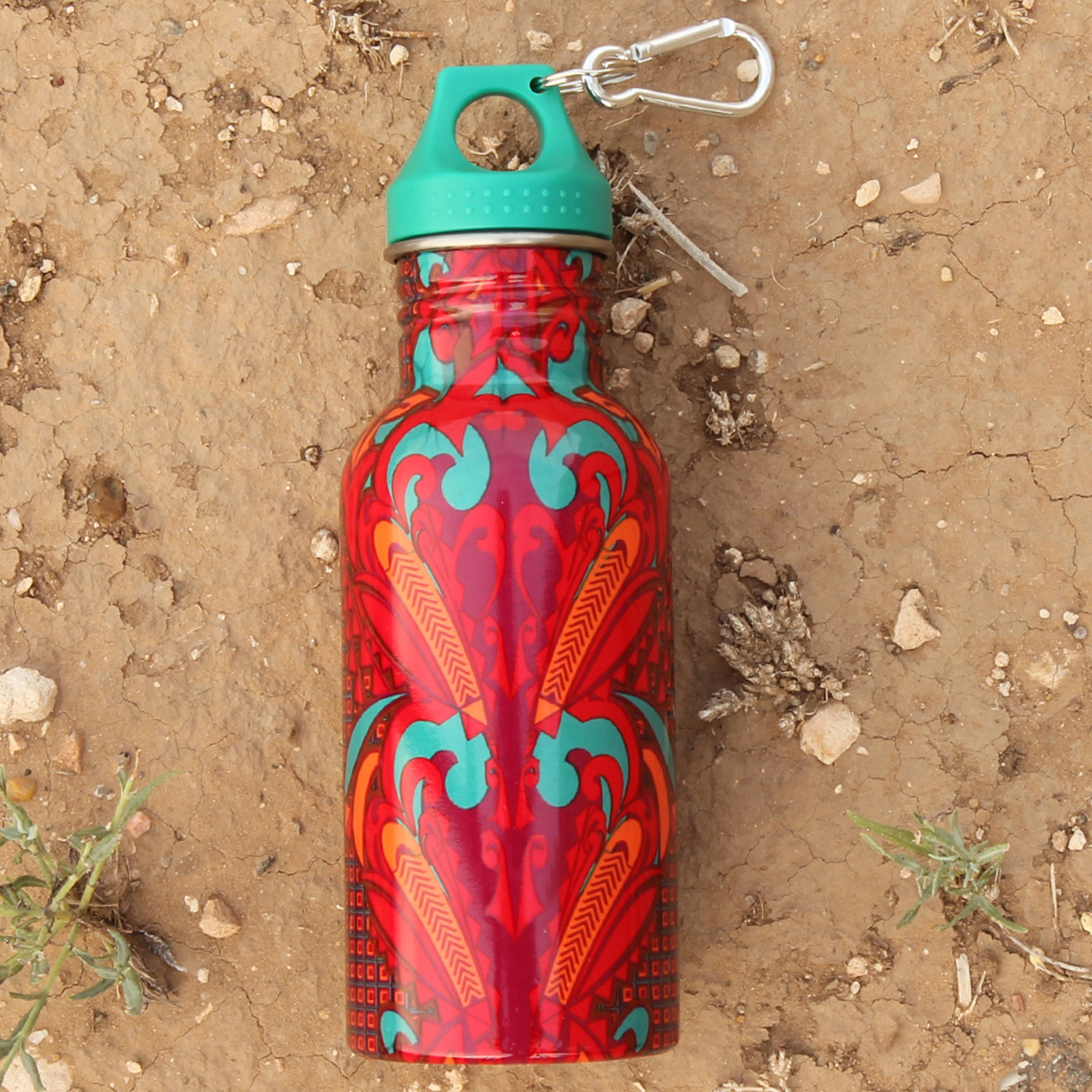Coral Tattoo Water Bottle
