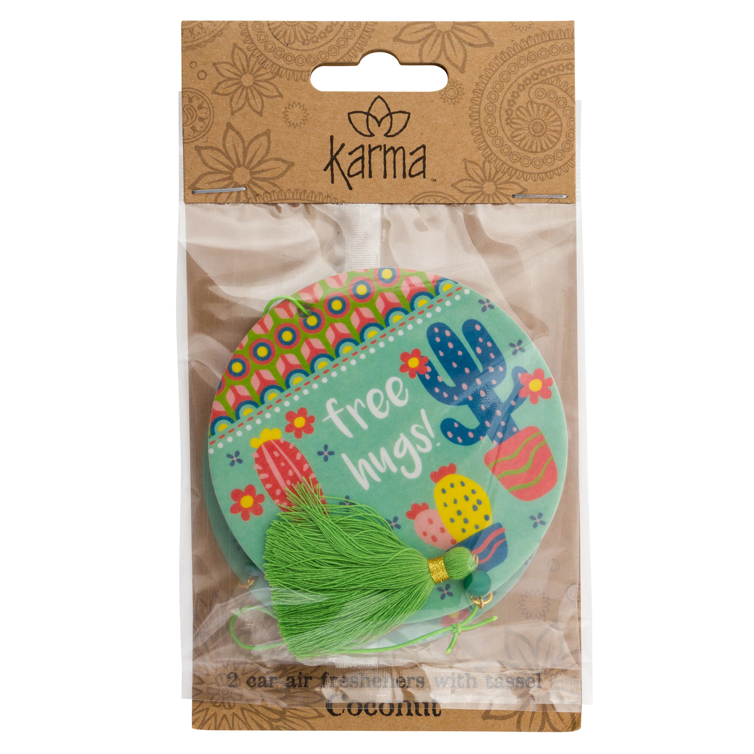 Cactus Coconut Car Air Freshener