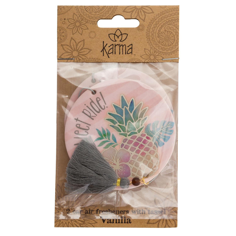 Pineapple Vanilla Car Air Freshener