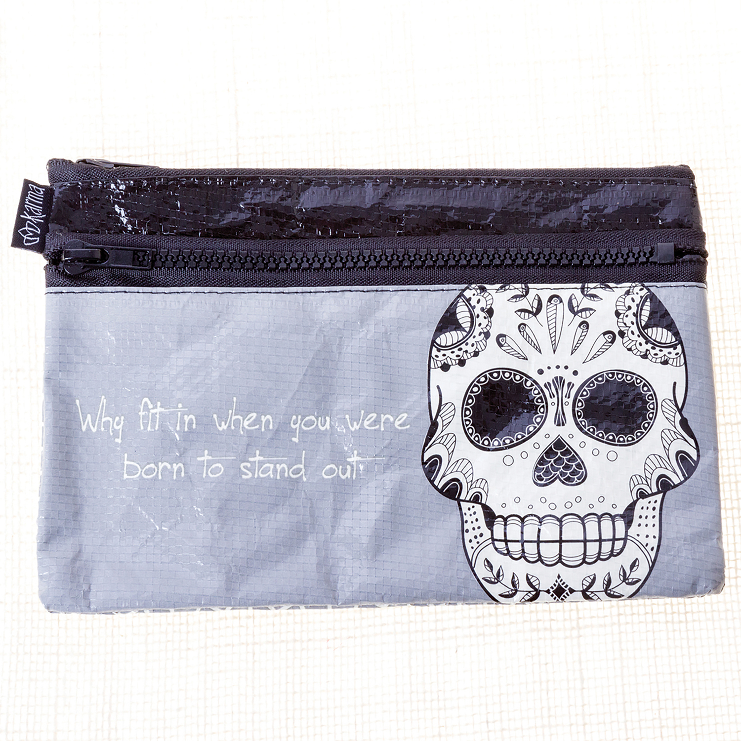 Sugar Skull Black & White Carry All Pouch