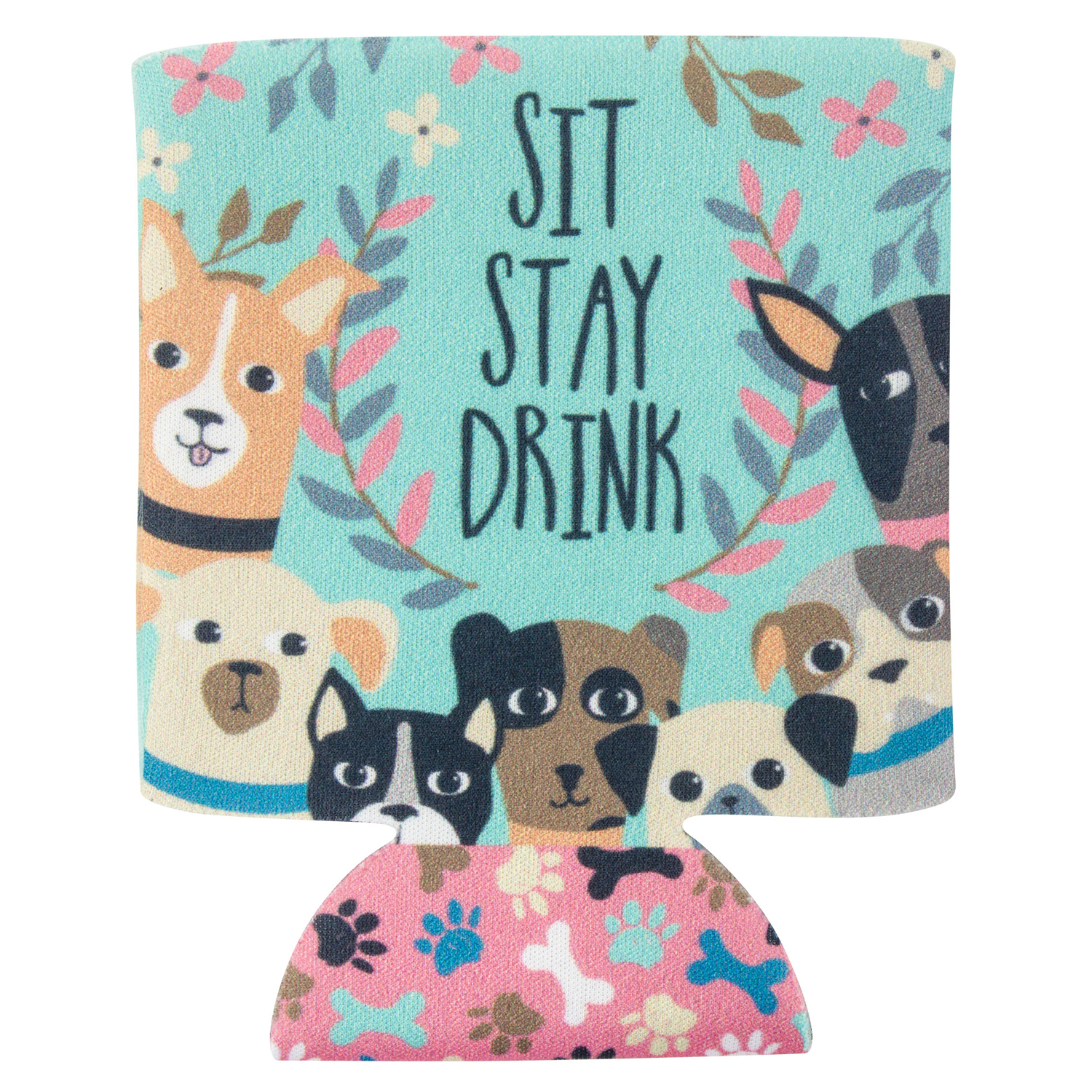 Sit Stay Drink Dog Can Cooler