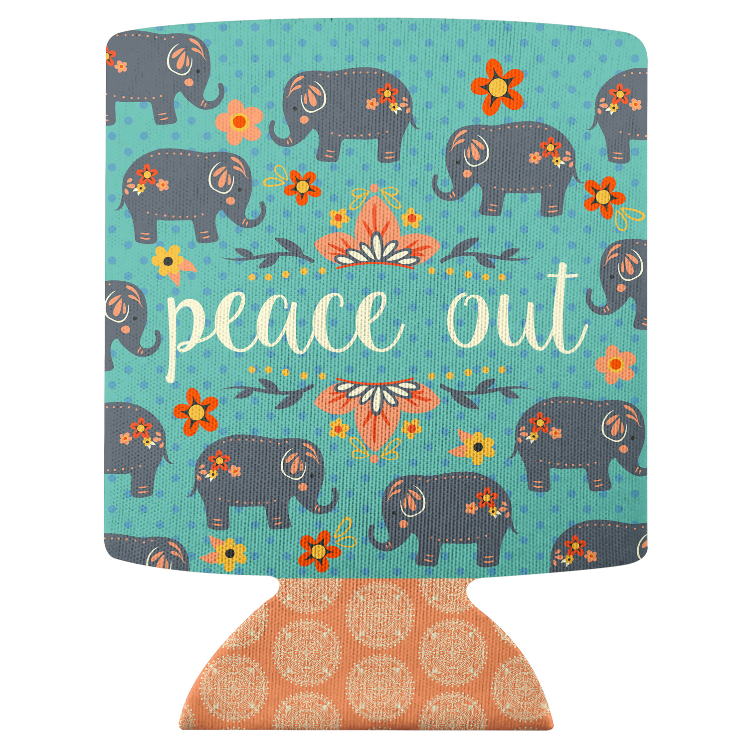 Peace Out Elephant Can Cooler