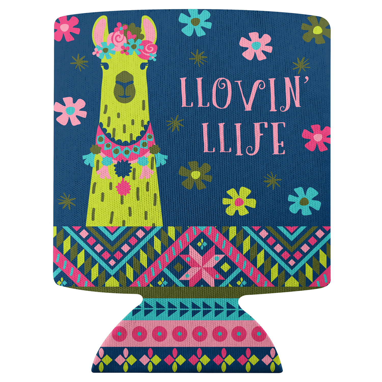 Llovin' Llife Llama Can Cooler