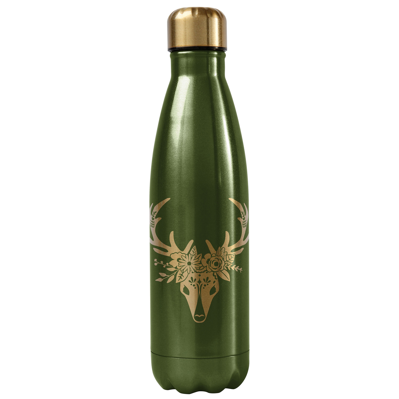 Green Deer Water Bottle