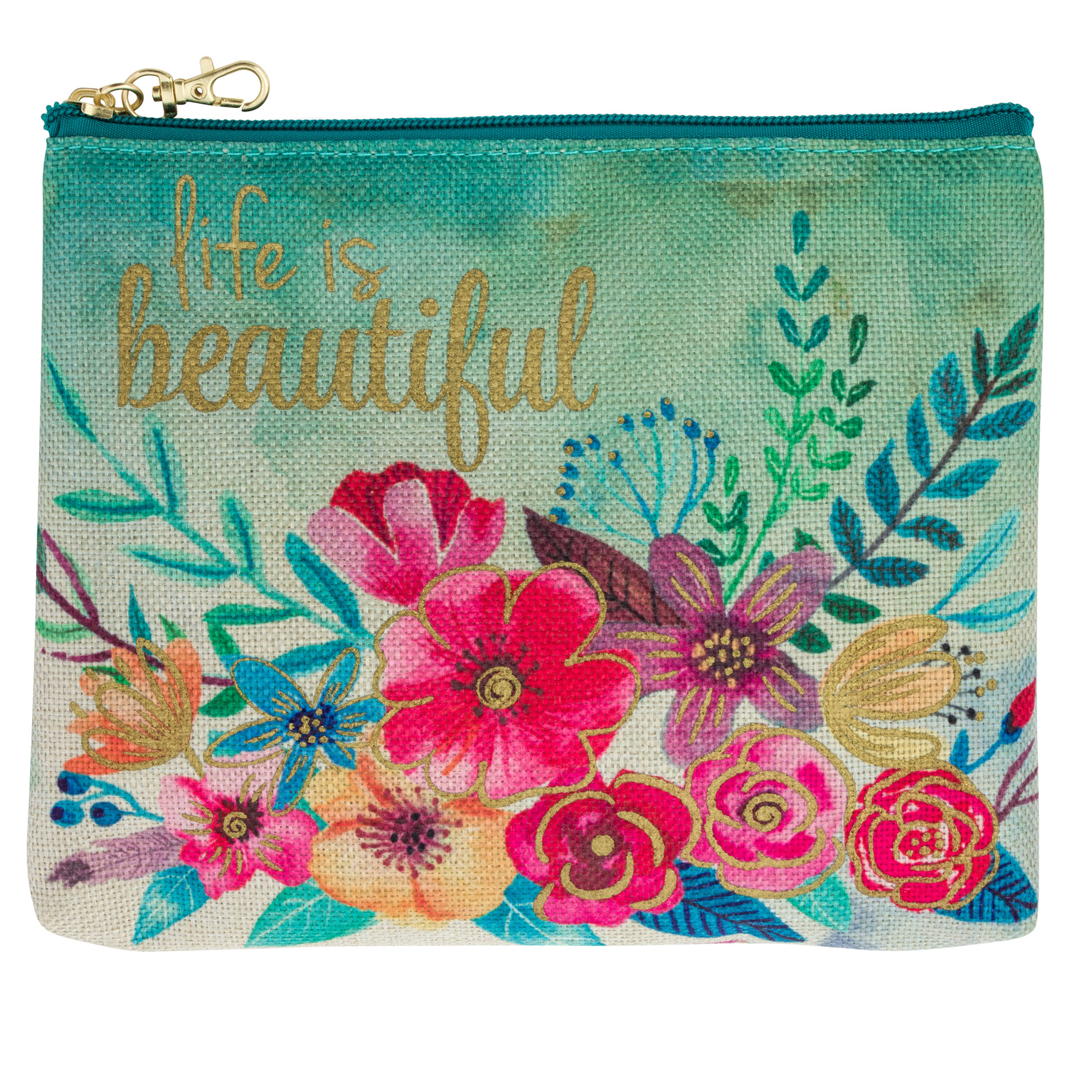 Floral Carry All Pouch