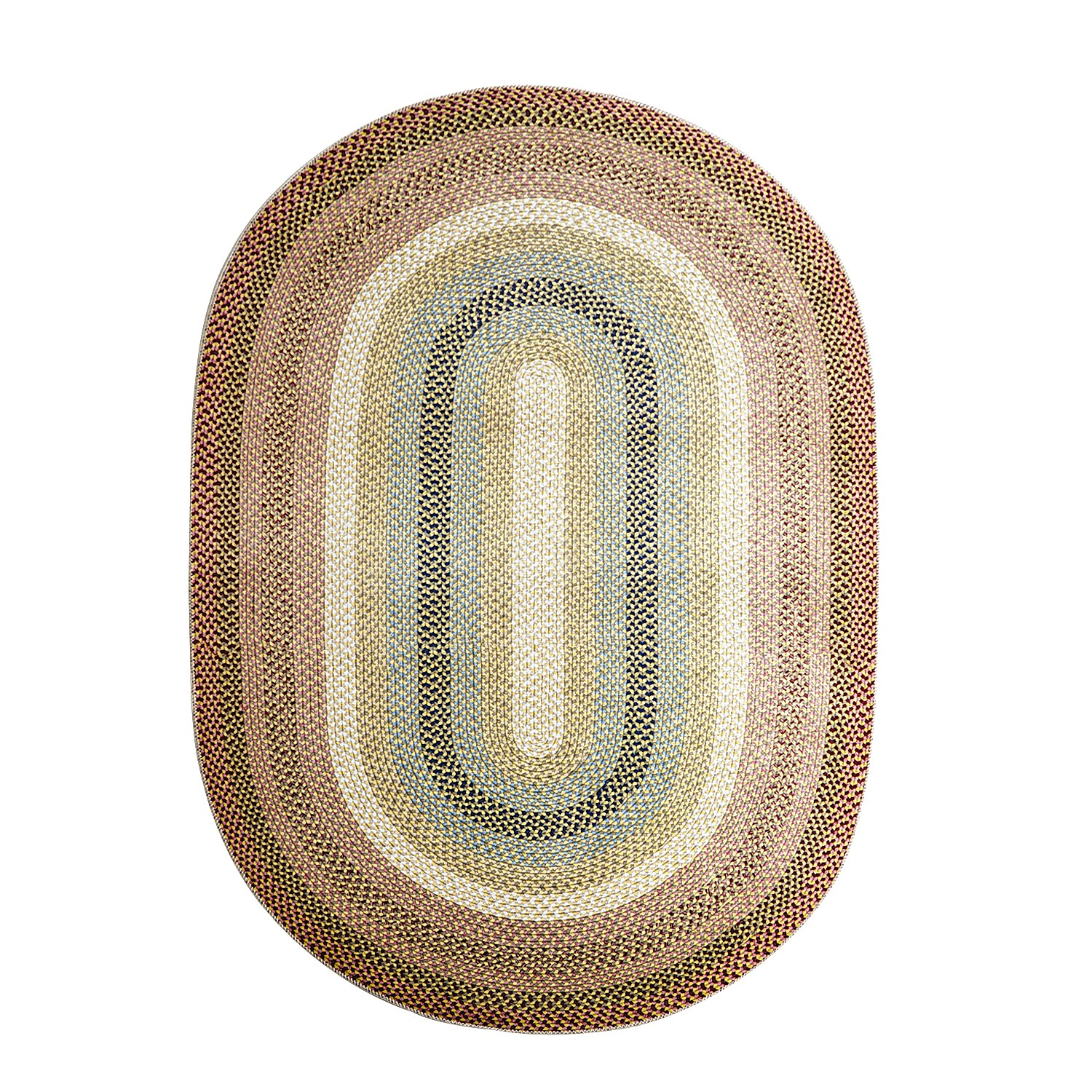 Braided Multicolor 6' Oval Rug