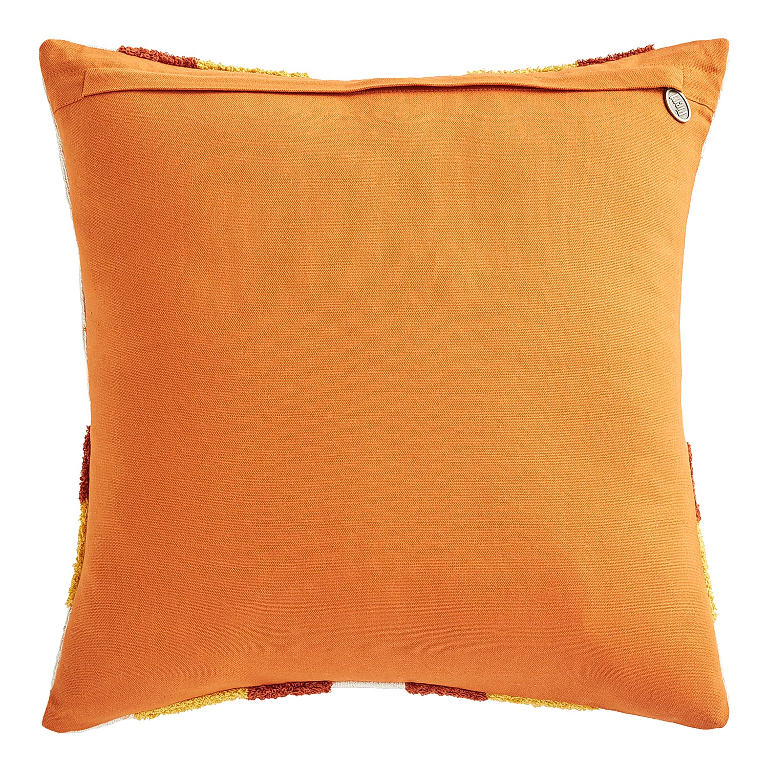 Geometric Squares Rust & Red Pillow