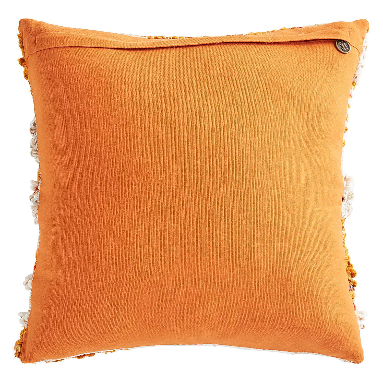 Textured Rust & Neutral Pillow
