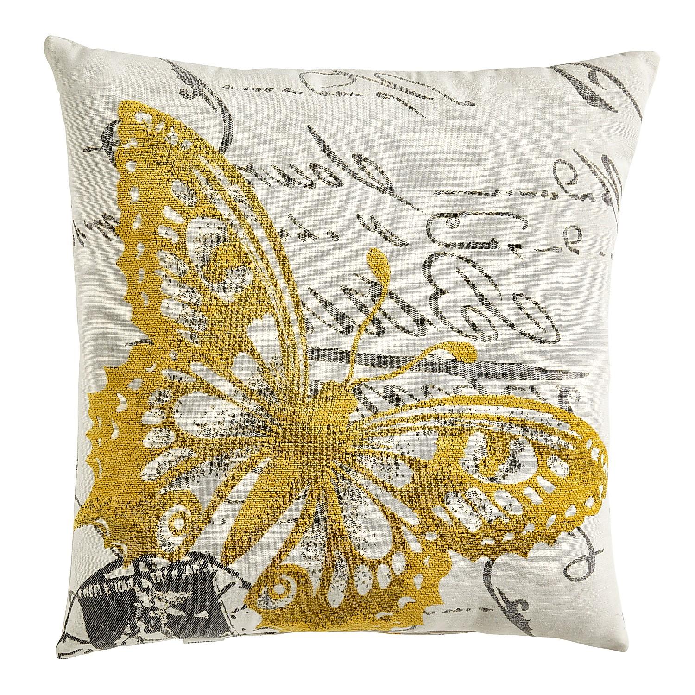 Jacquard Butterfly Pillow