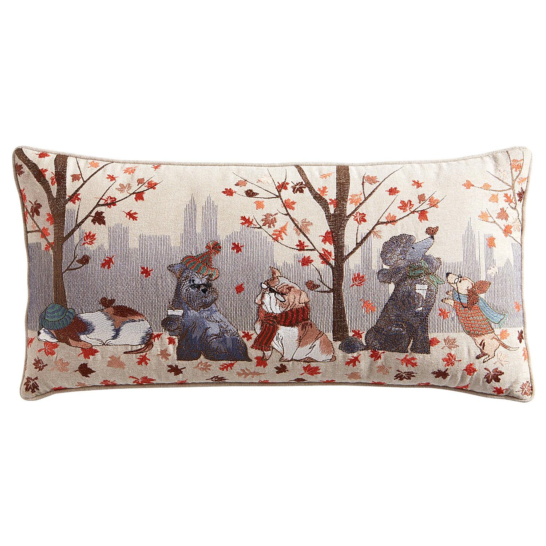City Dogs Lumbar Pillow