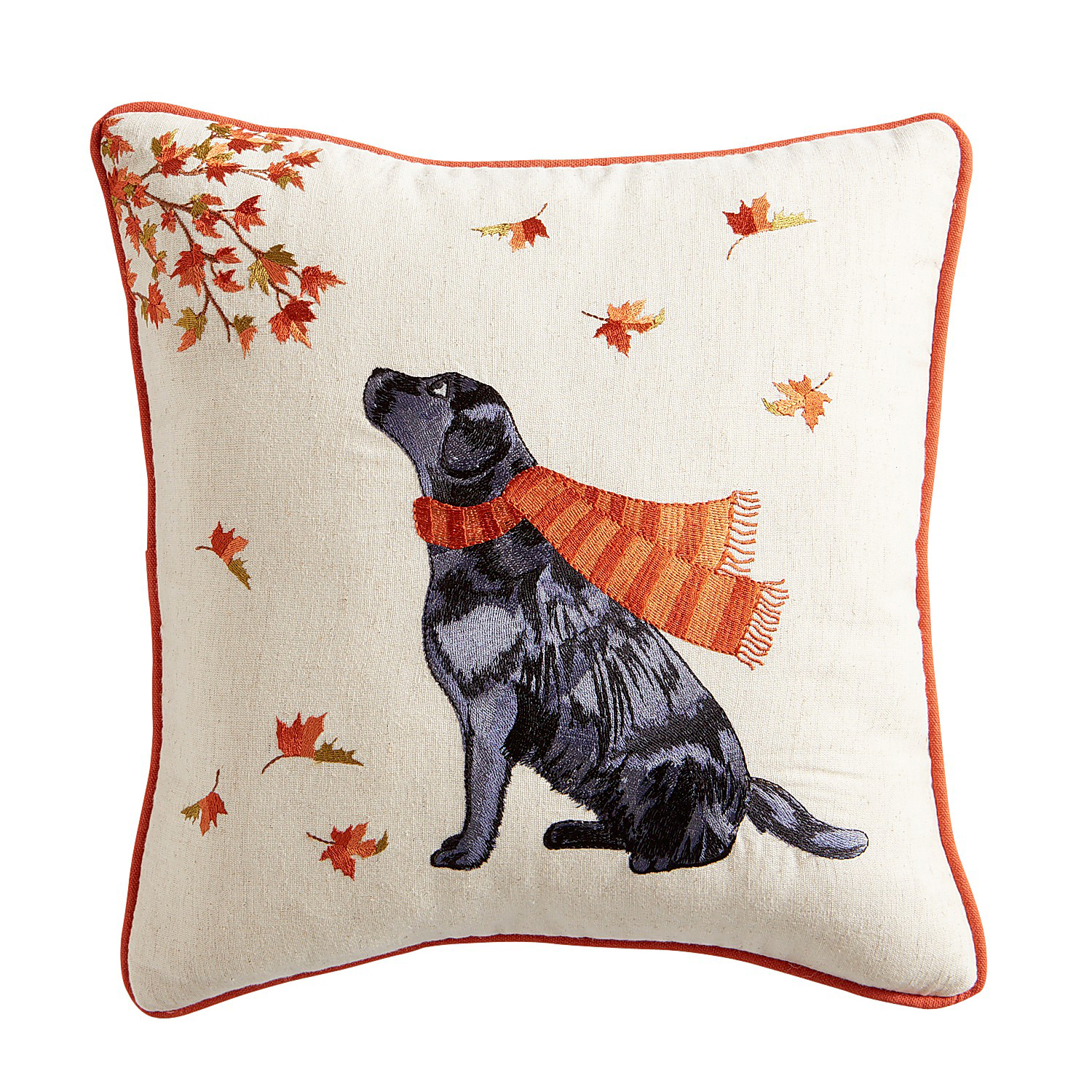 variation thumbnail of Lab in Leaves Pillow